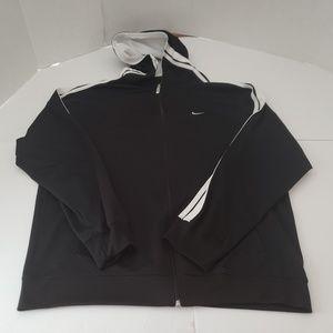 Nike Hooded Track Jacket Black Mens Size Extra Lar